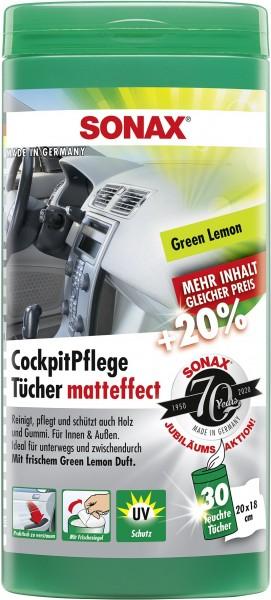 Sonax 04128000 CockpitPflegeTücher matteffect Box Green Lemon