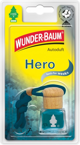 Wunderbaum Duftflakon Hero, 4 Stück