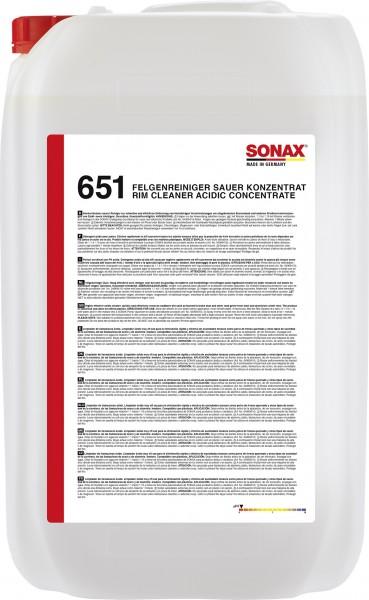 Sonax 06517050 FelgenReiniger sauer Konzentrat 25l